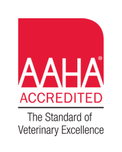 red logo AAHA accredited island veterinary hospital in richmond